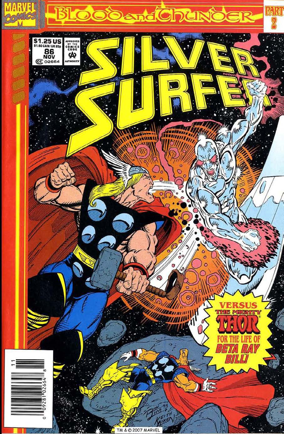 Read online Silver Surfer (1987) comic -  Issue #86 - 1