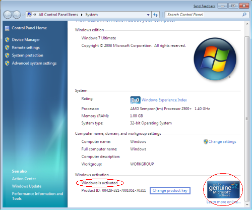 Windows 7 Permanent Activator Loader Extreme Edition v3.503