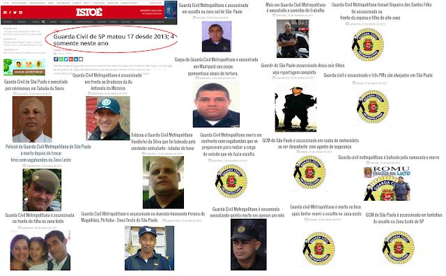 Site da revista ISTOÉ, informa que Guarda Civil Metropolitana de SP matou 17 desde 2013, só que omite que mais de 18 foram assassinados no mesmo período