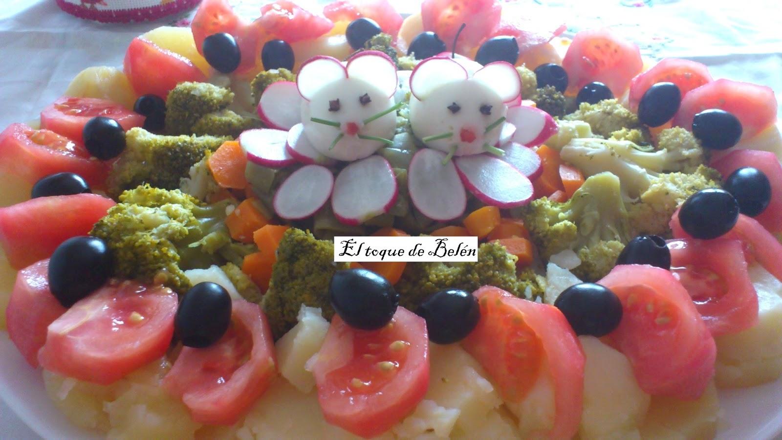 Ensalada de verduras con ratoncitos el toque de bel n - Hacer menestra de verduras ...