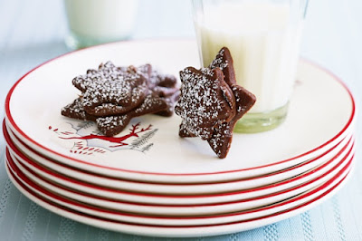 Chocolate shortbread stars Recipe