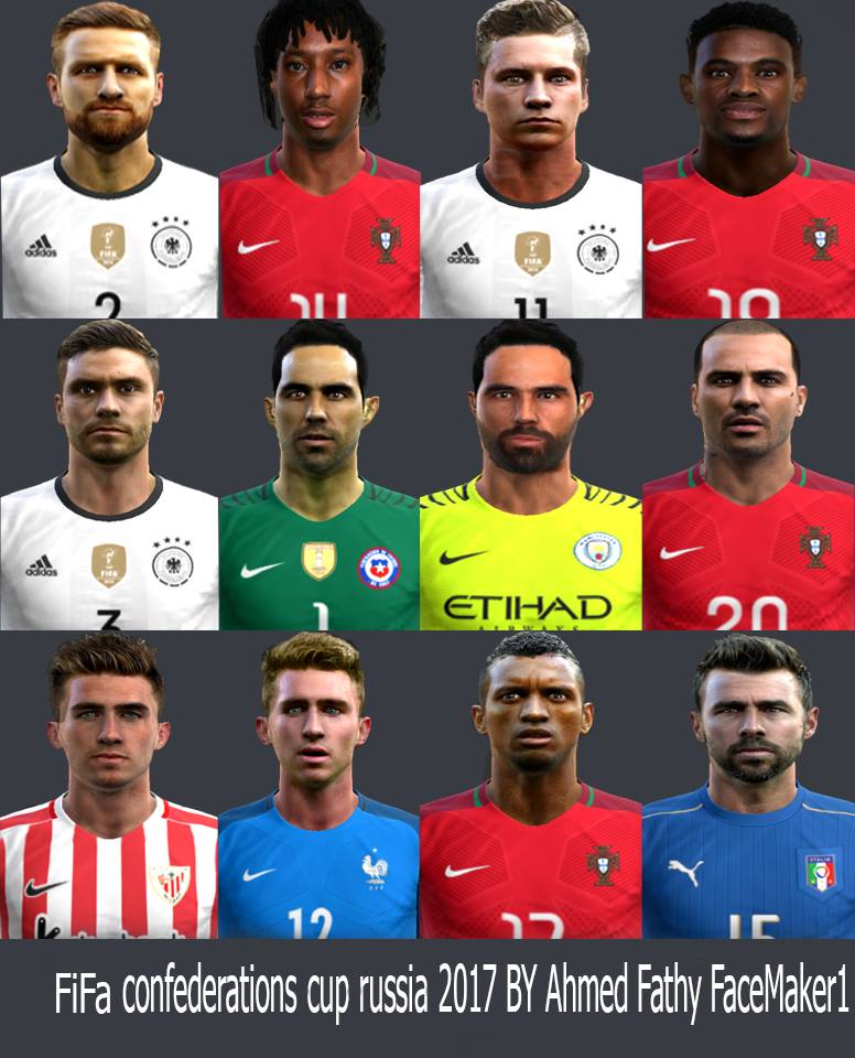 PES 2013 Confederations Cup Russia 2017 Face Pack by Ahmed Fathy