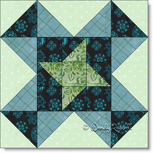 Pinwheel Star quilt block image © Wendy Russell