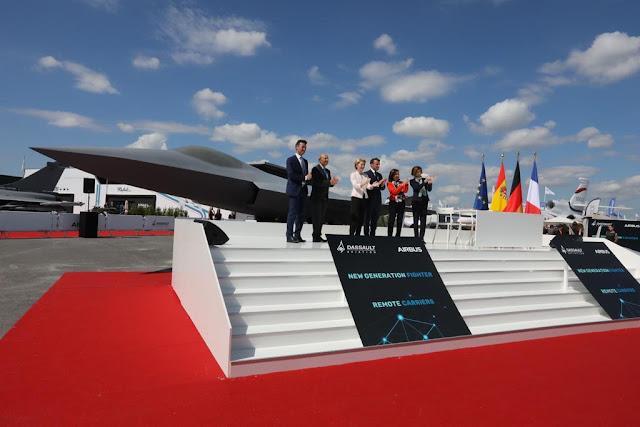 Alemania, España y Francia presentan el FCAS, un caza de 6ª generación para 2040, fabricado por Airbus y Dassault.