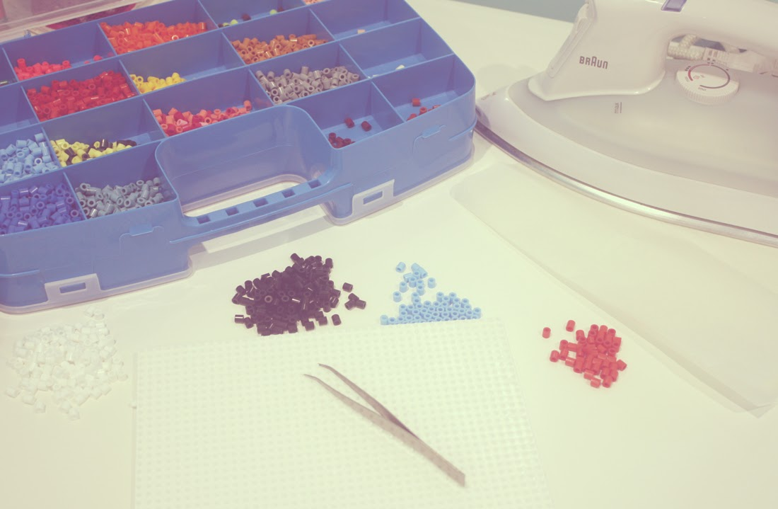 Materiales Posavasos Hama Beads Punto de Lu