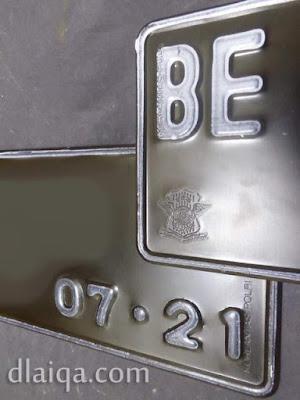 Tanda Nomor Kendaraan Bermotor (Plat Nomor)