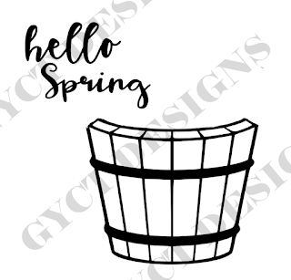 Hello Spring Vinyl Decor with Free SVG File