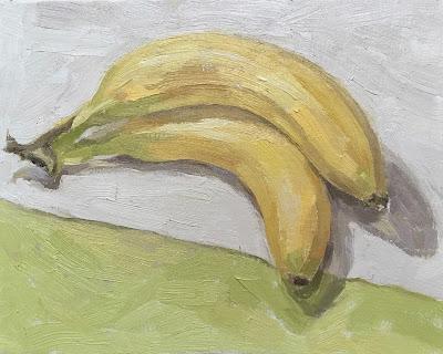 Daily Painting #19 'Bananas' 10×8″