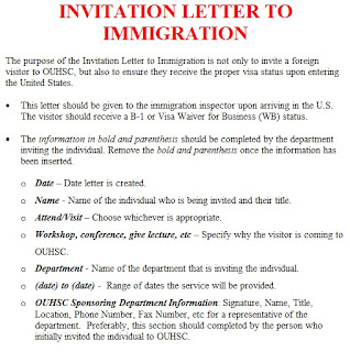 invitation letter template: immigration invitation letter sample