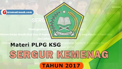 Download Materi PLPG KSG Sertifikasi Guru Kemenag Tahun 2017