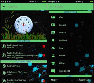 BBM Mod SpyLock Green Theme V3.0.1.25 Apk