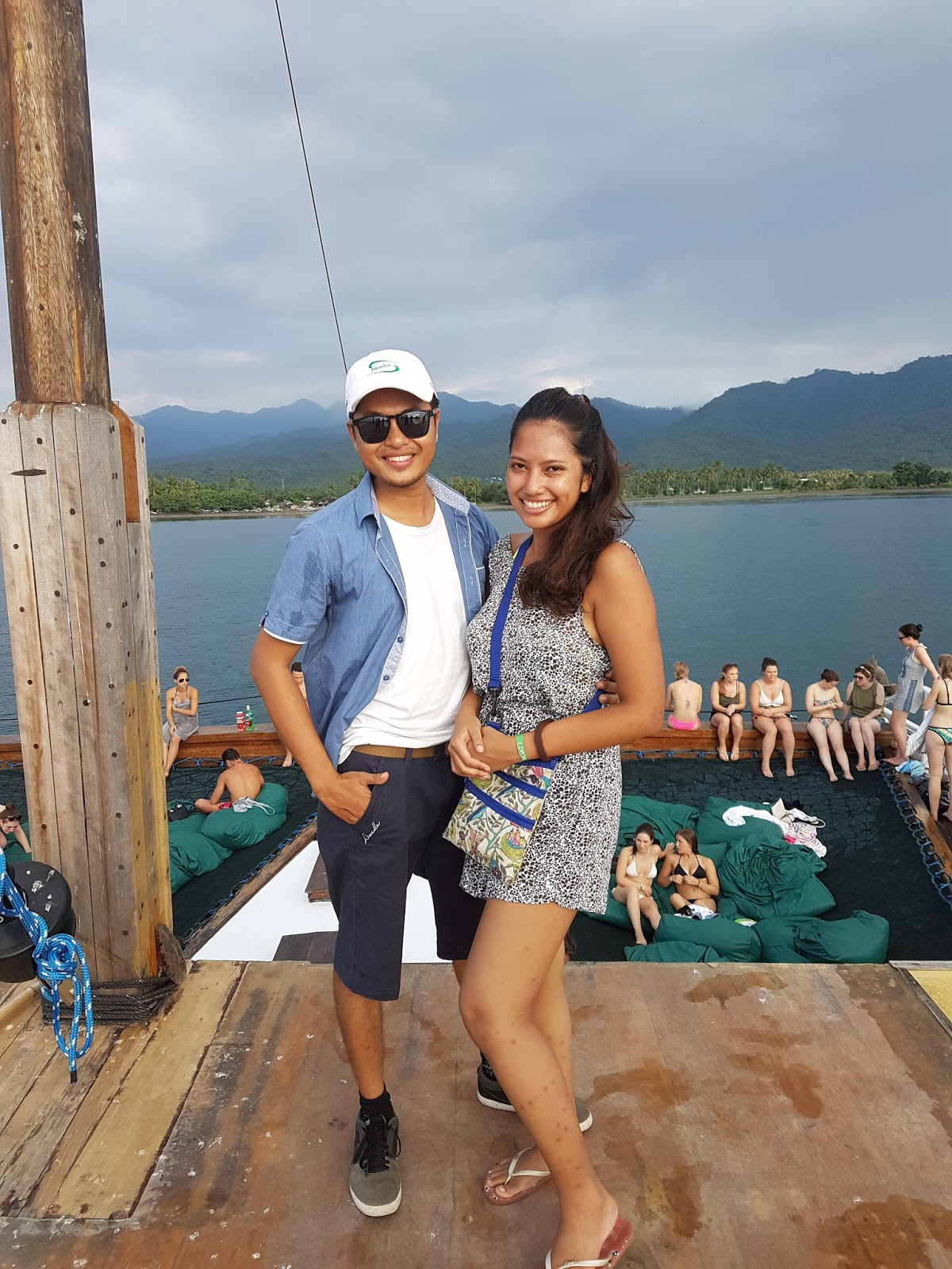 With the captain of the Jiggy Party Boat in Gili Trawangan