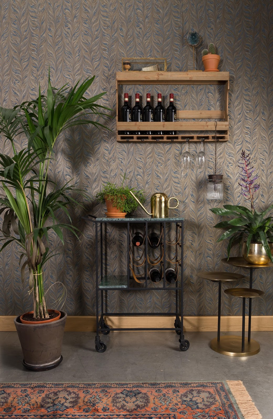 Six Different Ways To Style A Bar Cart In Your Home Dove Cottage