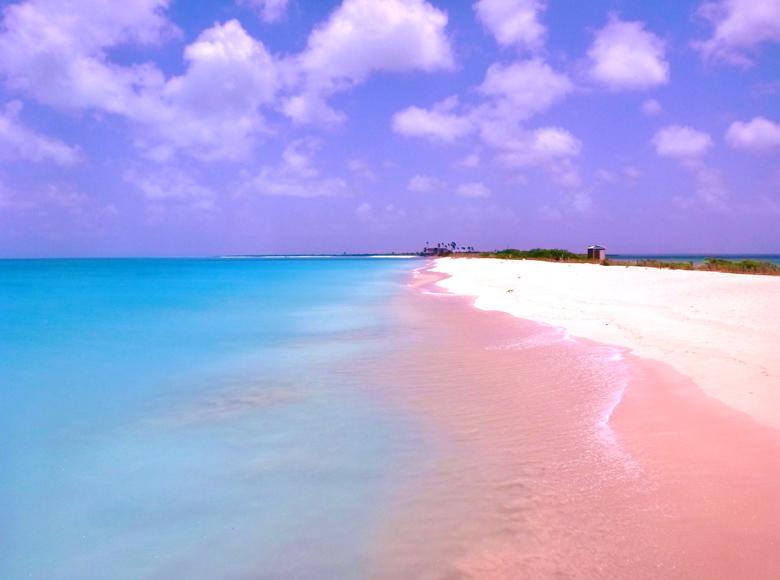 Harbour Island Es Conocida Por Su Playa De Arena Rosada Y Está Considera Una Las Mejores Playas Islas Bahamas Con Superficie Cerca