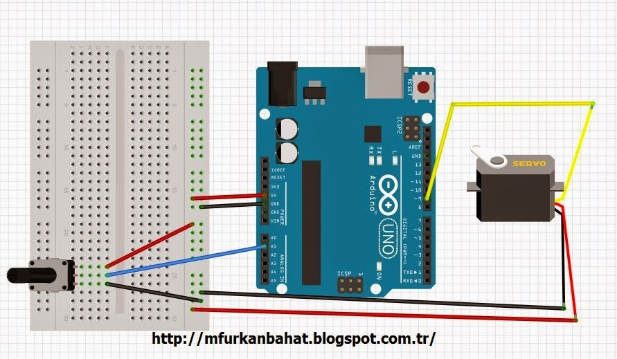 Controlling the Servo Motor Using Potentiometer - Arduino | M Furkan