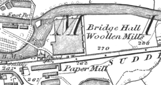 Bridge Hall Woollen Mills, OS map, 1847.