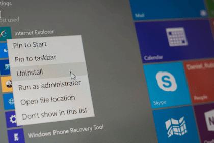 Cara Uninstall Aplikasi dan Software di Windows 10 Terbaru