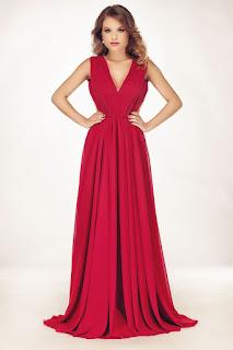 rochie-rosie-lunga-de-seara-2