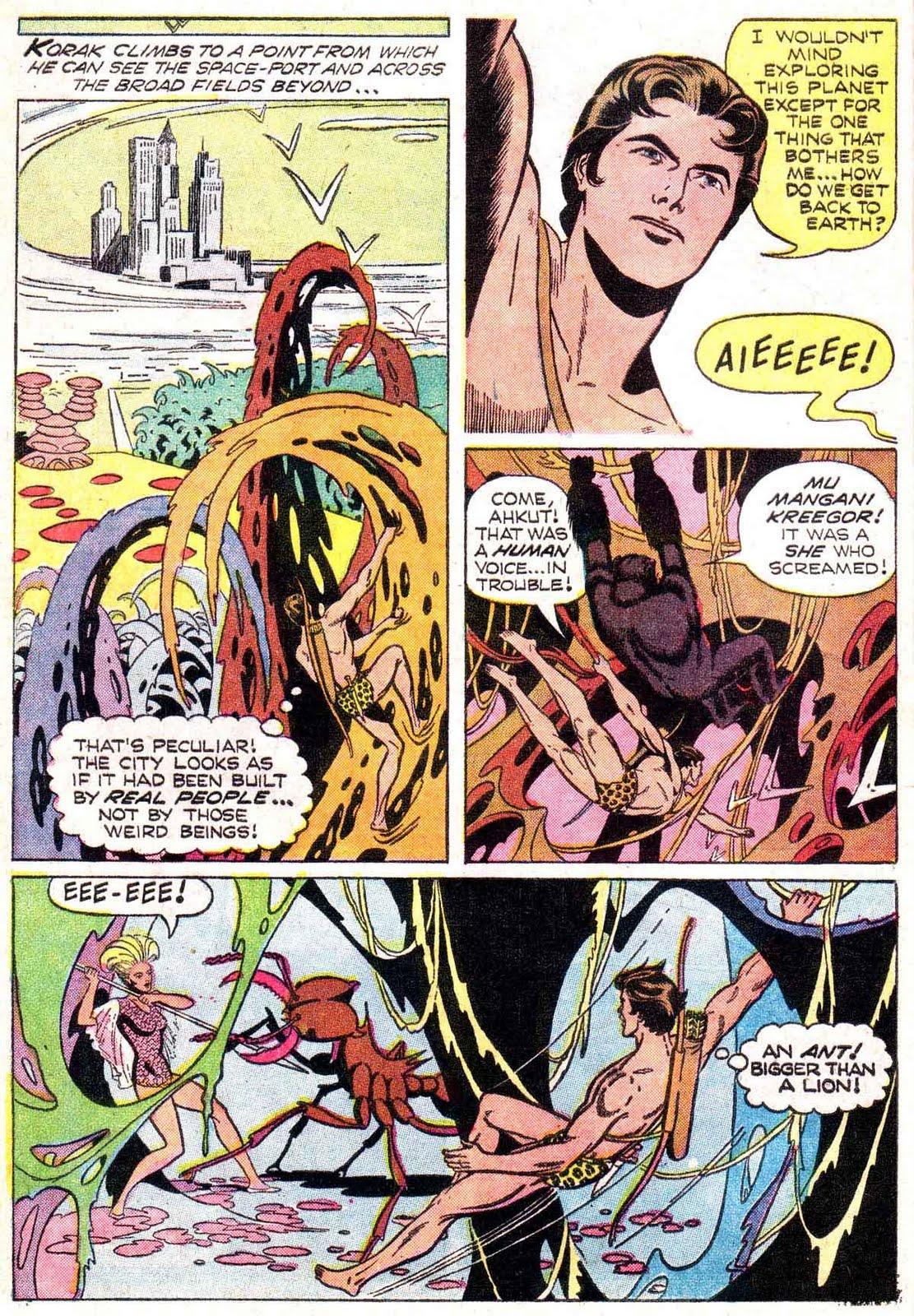 Korak Son of Tarzan v1 #21 gold key silver age 1960s comic book page art by Russ Manning