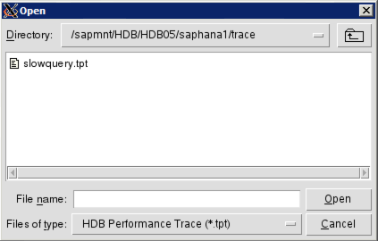 How to use HDBAdmin to analyze performance traces in SAP HANA