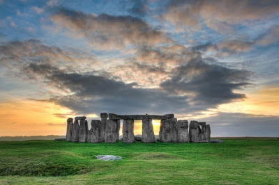 Sunset at the Prehistoric Stonehenge