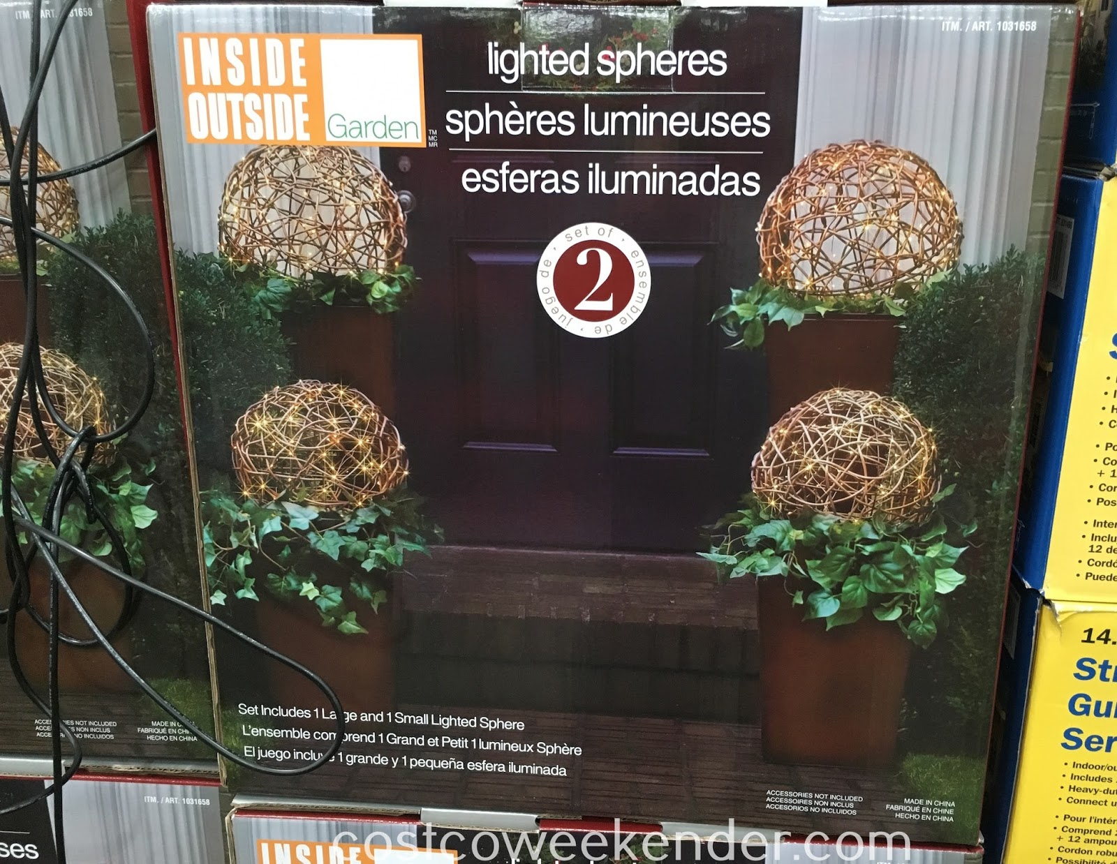 Add light and decor with Inside Outside Garden Lighted LED Spheres