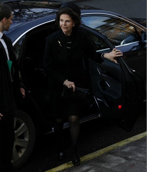 Queen Silvia, Princess Madeleine, Princess Birgitta and Princess Christina attended funeral service for Ulf Dinkelspiel