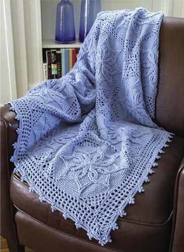 Crochet baby blanket with Chart.