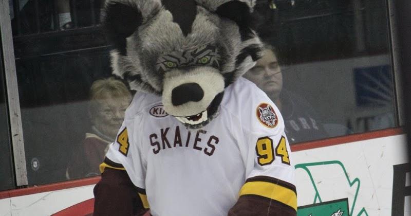Skates The Chicago Wolves Mascot Through The Lens