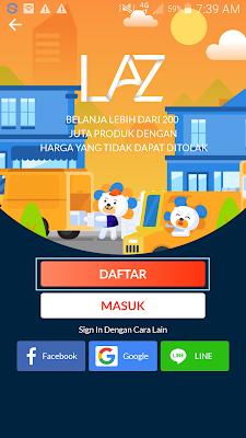 cara daftar di aplikasi lazada mendapatkan hadiah gratis