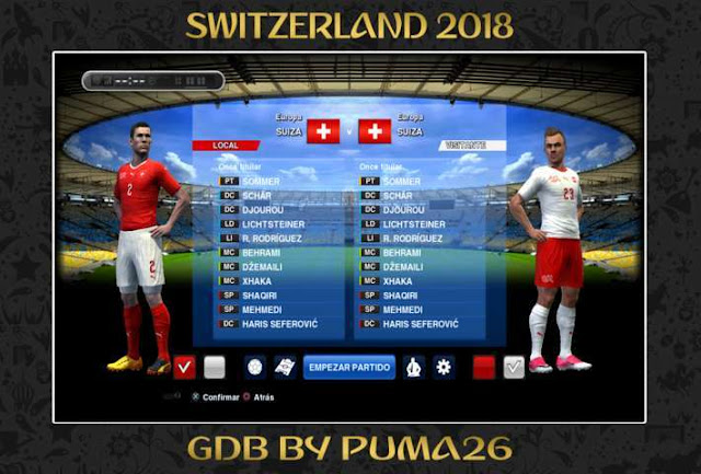 Switzerland 2018 Kits Update PES 2013