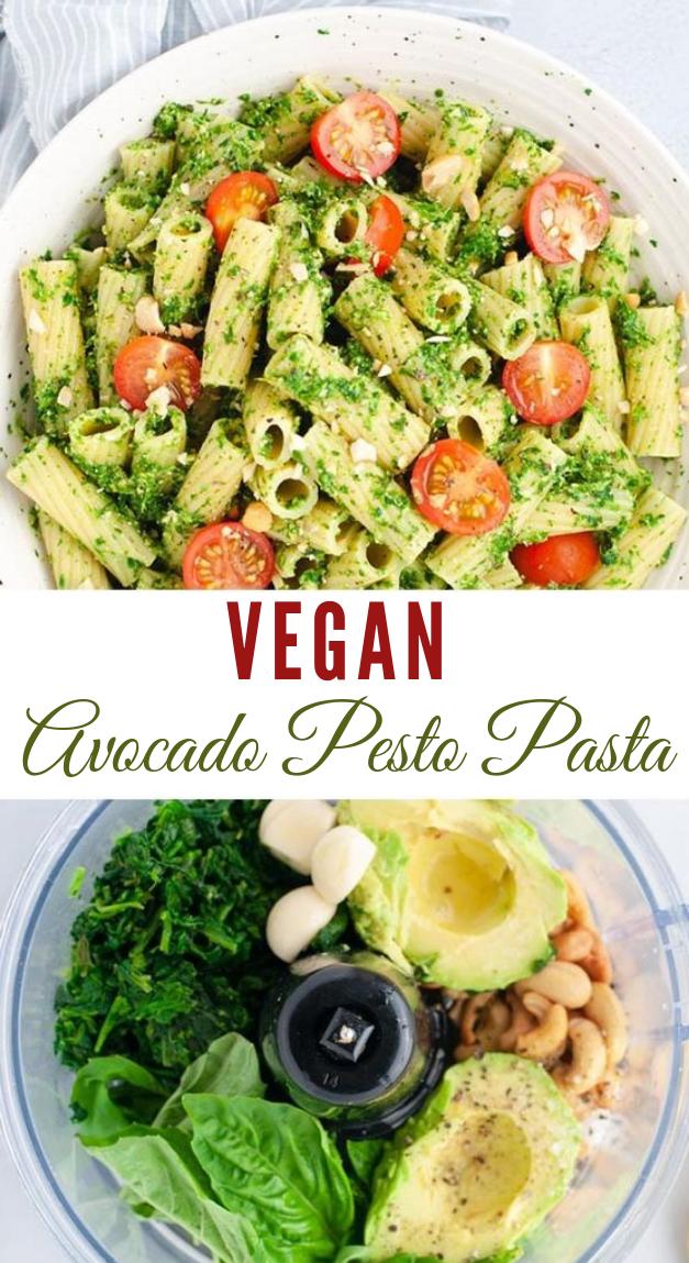 VEGAN AVOCADO PESTO PASTA #vegan #avocado