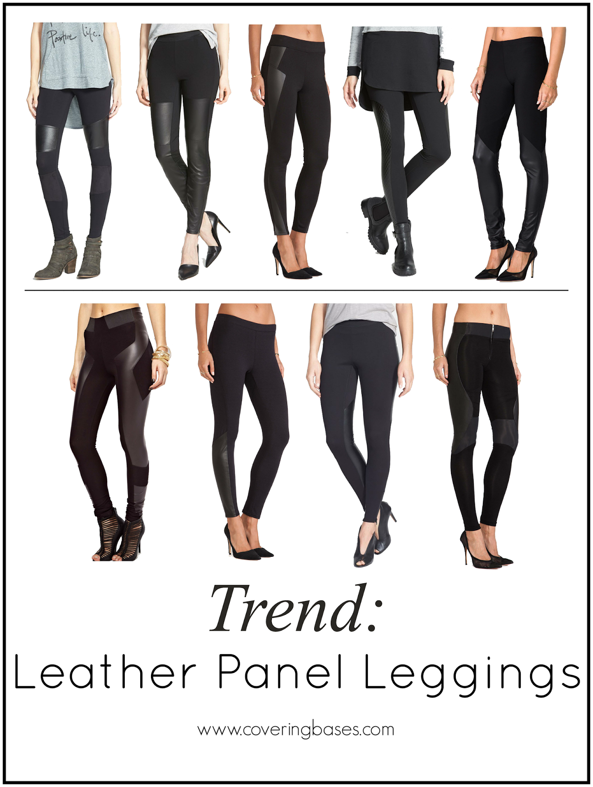 Fashion Trend, Leather Panel Leggings