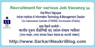 Naukri Vacancy Recruitment AVB IIITM Gwalior