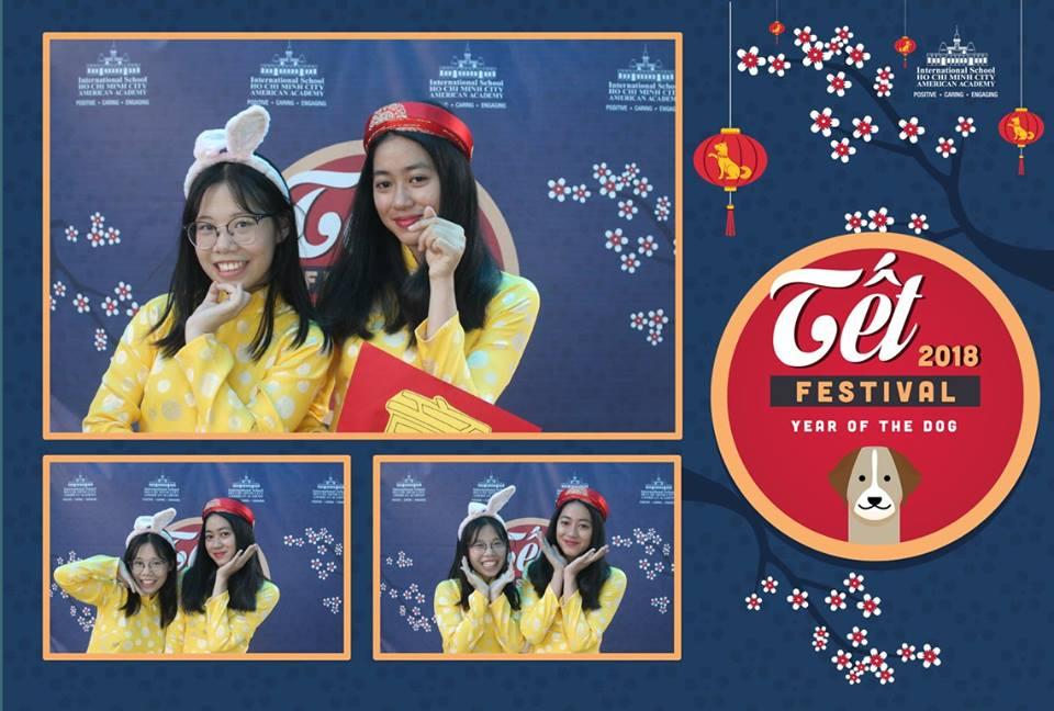 Photobooth event photobooth ISHCMC TET 2018 Festival year of the dog