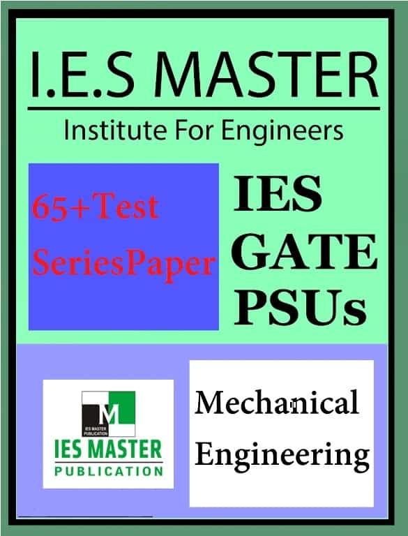 Download IES Master Gate And Ese 2019 Mechanical Test Series Pdf