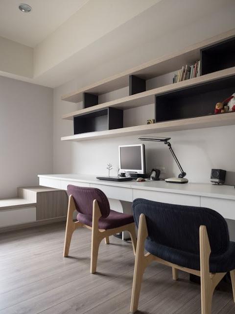 приятный дизайн домашнего рабочего места
