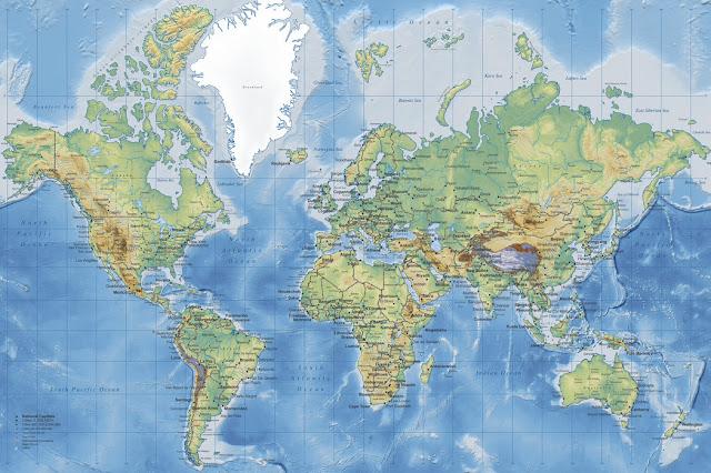 Lastenhuoneen tapetti Maailmankartta tapetti karta world map Valokuvatapetti