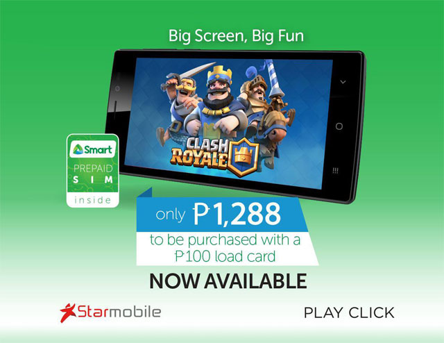 Smart, Starmobile out smartphone kit for Php 1288