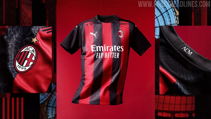AC Milan 20-21 Home Kit Released - Footy Headlines