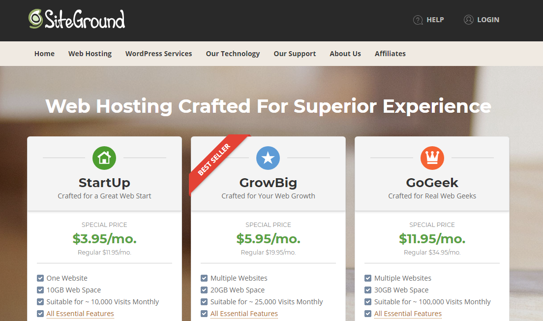 top hosting company for wordpress powered site
