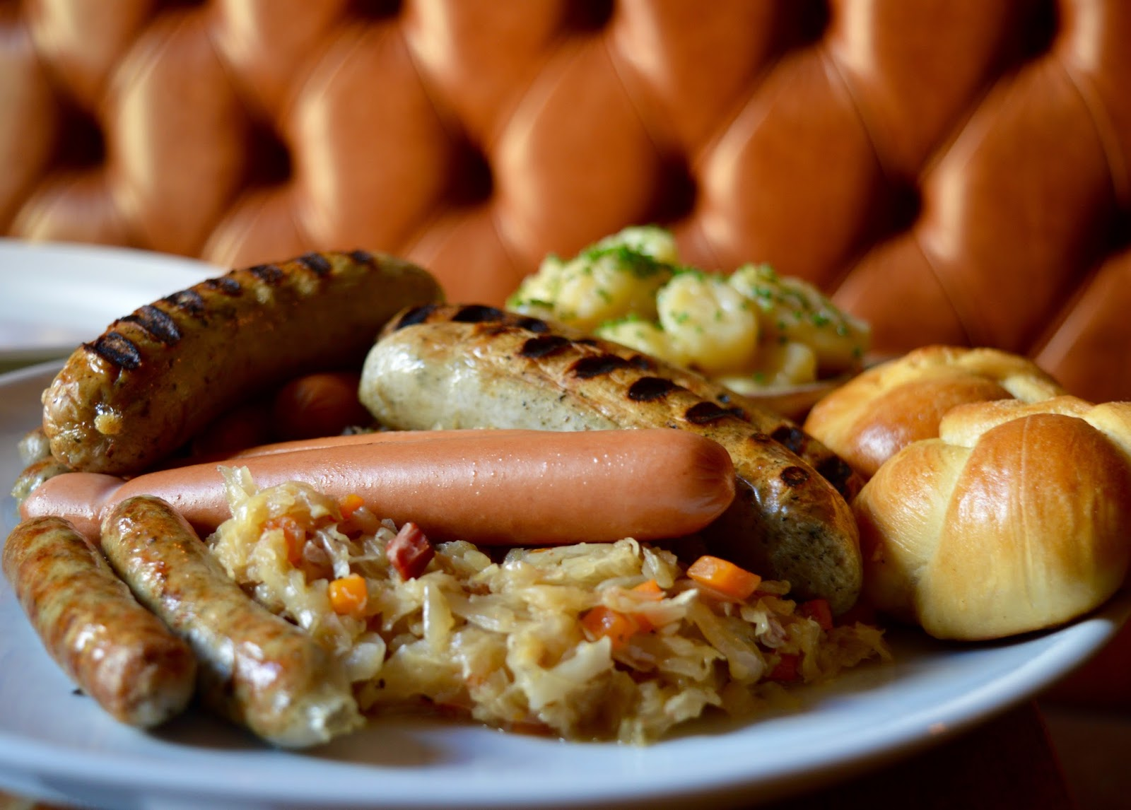 Oktoberfest 2016 | The Broad Chare Newcastle - Bavarian Wurst Platte - German Sausage Platter and Sauerkraut