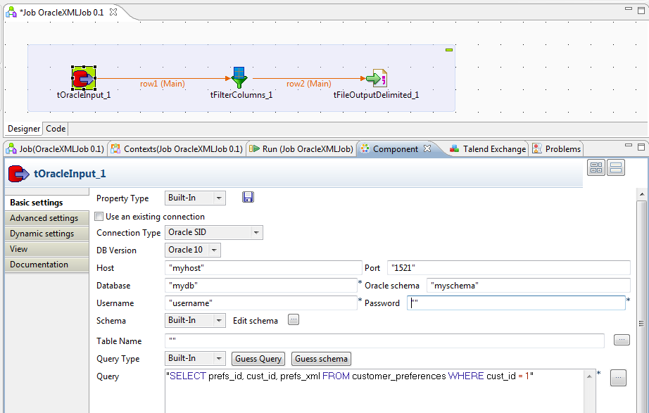 Bekwam Blog: Exporting Oracle XML to a File with Talend Open