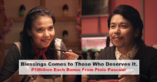 Blessings Comes to Those Who Deserves It. EMPOY and ALESSANDRA Receive ₱1M BONUS From PIOLO PASCUAL