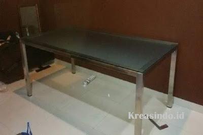 Harga Berbagai Meja Stainless Kombinasi Kaca atau Kayu Terbaru