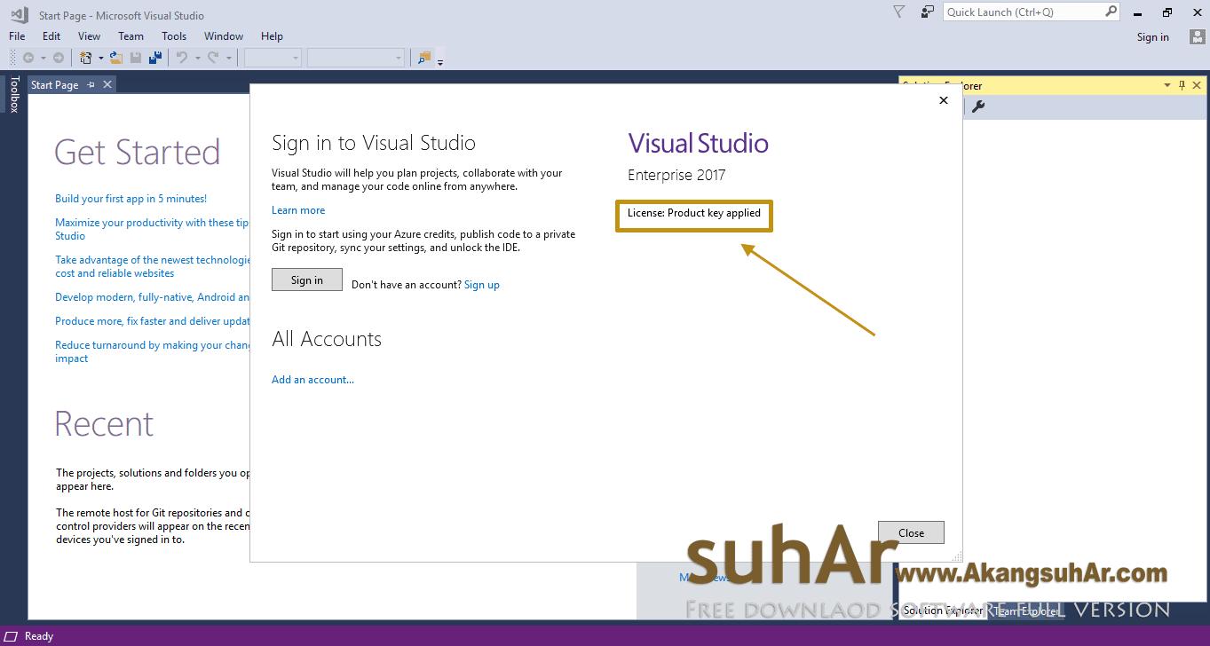 visual studio 2017 license key registry