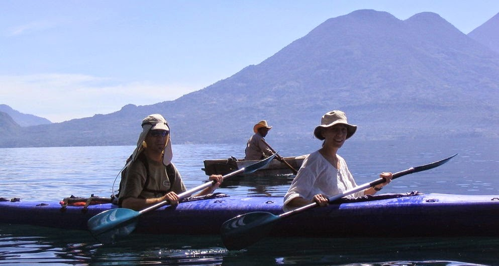 Kayaking in Lake Atitlan, Guatemala