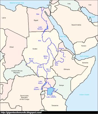 mapa Rio Nilo