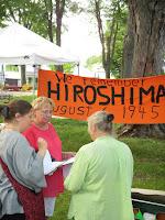 Hiroshima Day Kingston Peace Lantern Ceremony organizers talking