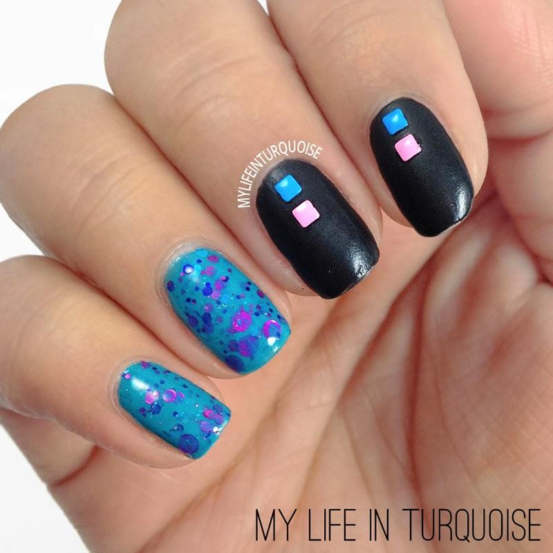 Neon-Studs-Nail-Art
